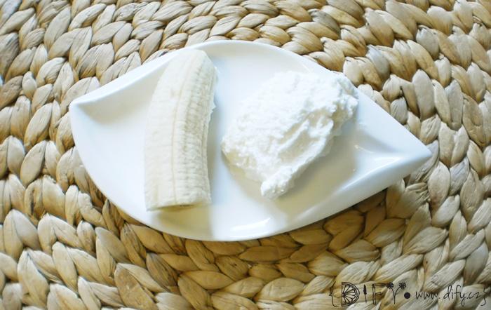 Banánovo-karobový dezert s pudinkem bez mléka - recept