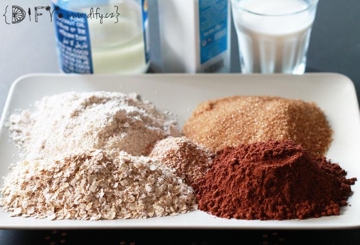 Zdravé domácí čokoládové ovesné sušenky - recept