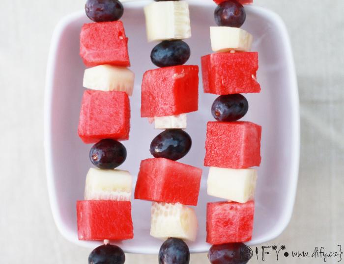 Ovocné špízy s melounem