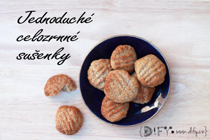 Domácí celozrnné sušenky s třtinovým cukrem