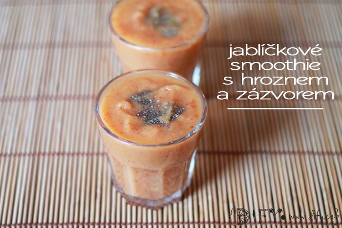 Jednoduché jablíčkové smoothie s vínem a zázvorem