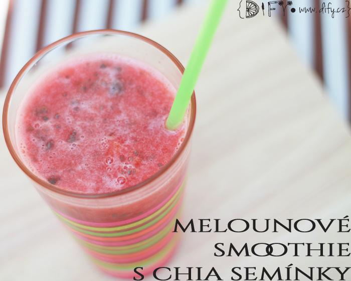 Jednoduché melounové smoothie s chia
