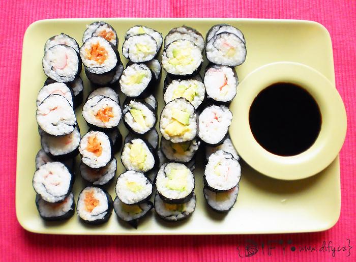 Příprava domácího sushi
