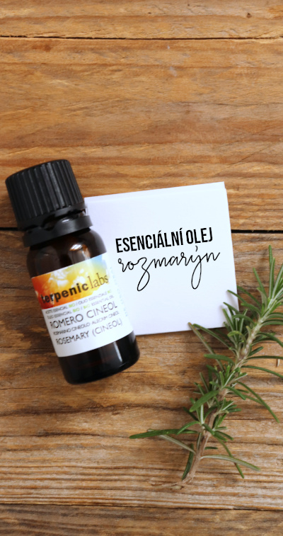 Esenciální olej rozmarýn lékařský - vlastnosti a použití (aromaterapie, diy kosmetika)
