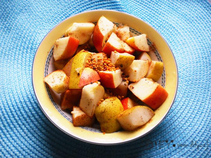 Bleskový ovocný salátek s chutí podzimu