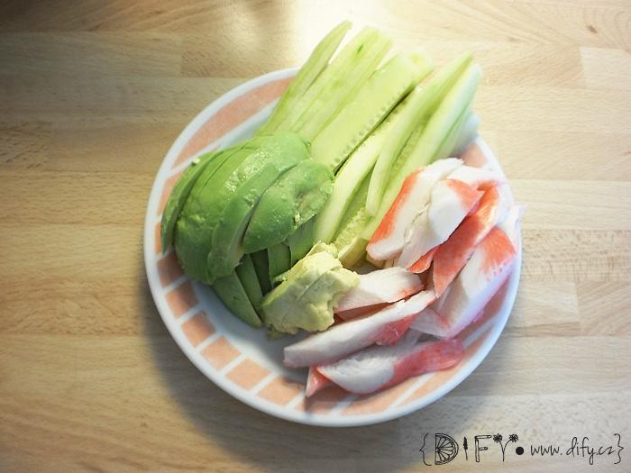 Příprava domácího sushi - náplně