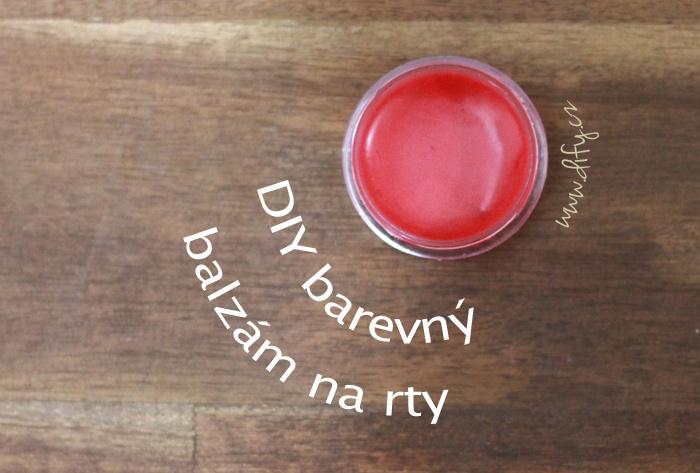 DIY barevný balzám na rty
