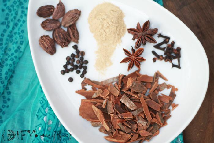 Koření na výrobu Masala Chai směsi