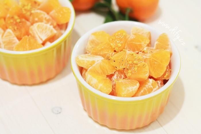 Mandarinkový salát s medovou zálivkou