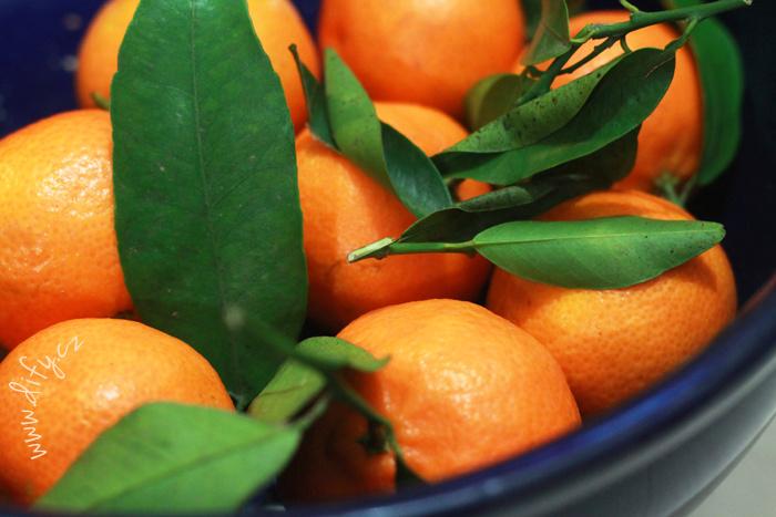 mandarinky s listy