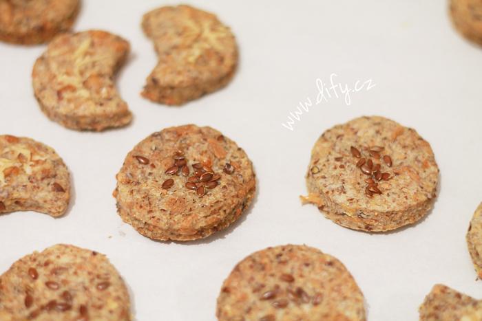 Celozrnné sušenky se lněným semínkem