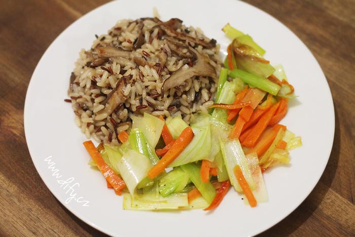 Hlívová rýže s opékanou zeleninou