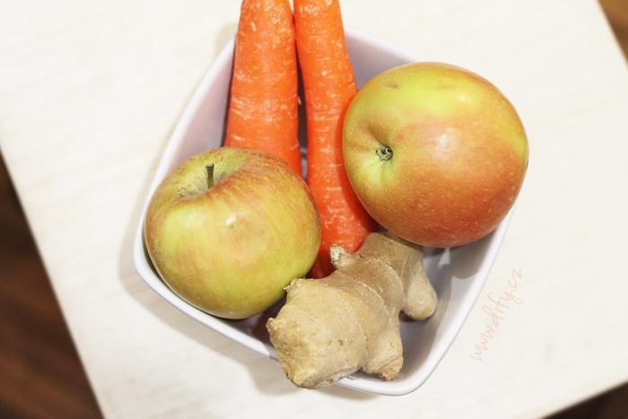 Recept na smoothie/thickie z mrkve a jablka se zázvorem