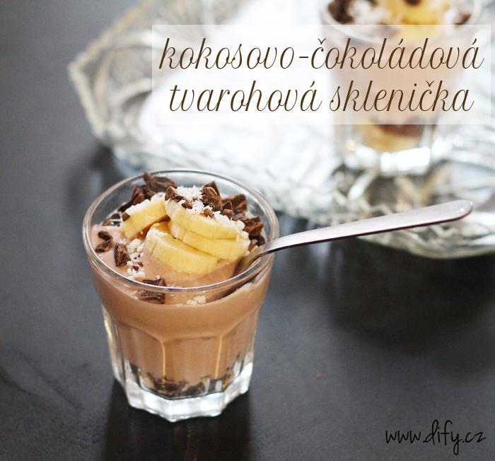 Čokoládovo kokosový tvarohový dezert