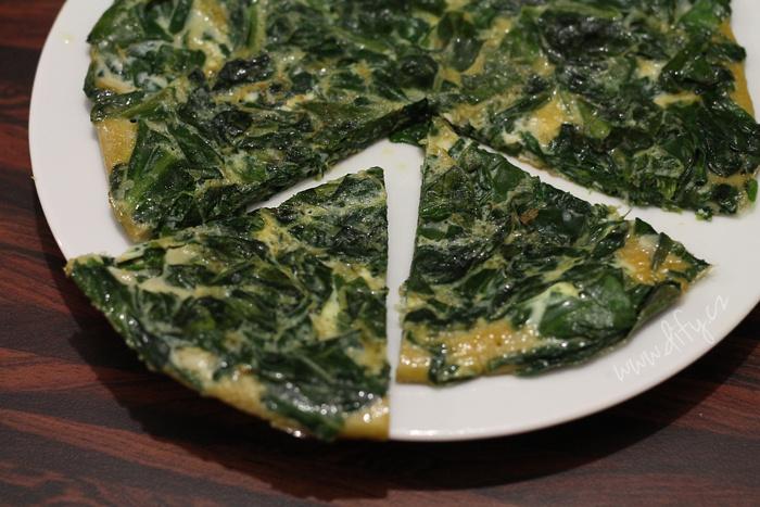 Špenátová tortilla