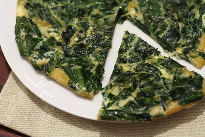 Španělská špenátová omeleta