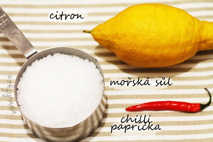 Recept na citronovou sůl s chilli papričkou