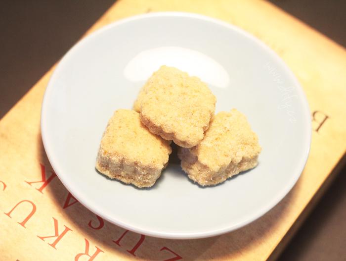 Celozrnné sušenky v citronovém cukru