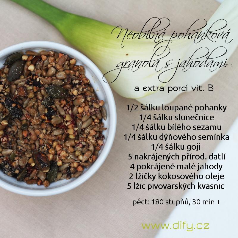 Recept na neobilnou pohankovou granolu