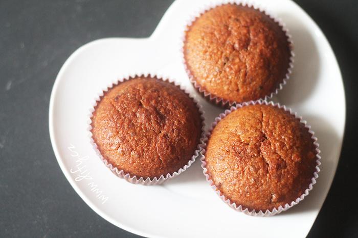Celozrnné muffiny s vanilkou a kumkvatem
