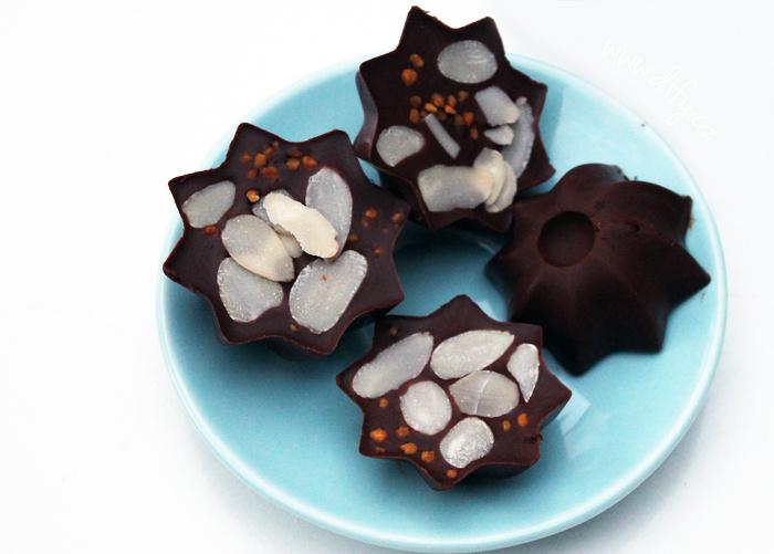 Domácí ledová čokoláda s mandlemi