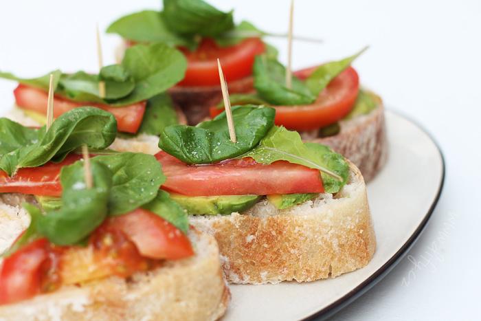 Zdravé vegetariánské chlebíčky