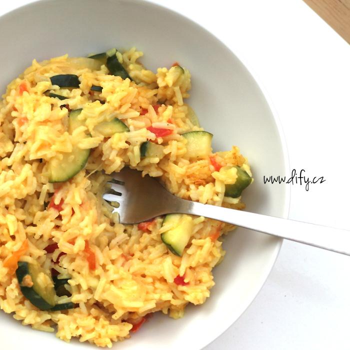 Zeleninové rizoto s kurkumou