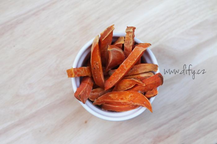 Zdravé pečené hranolky z batátů