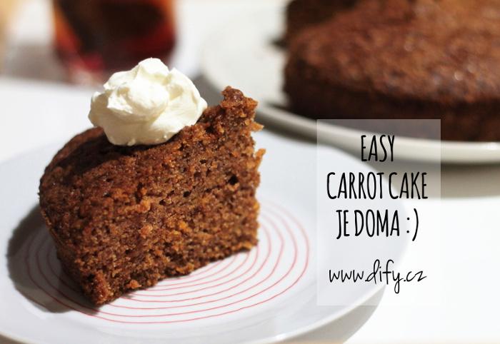 Recept na jednoduchý carrot cake