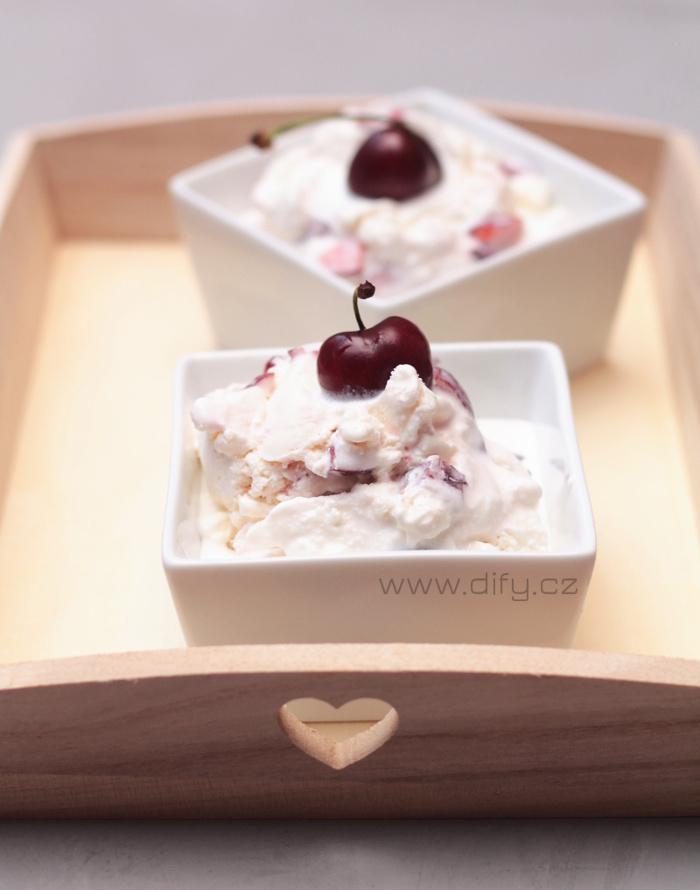 Recept na jogurtovou zmrzlinu s třešněmi