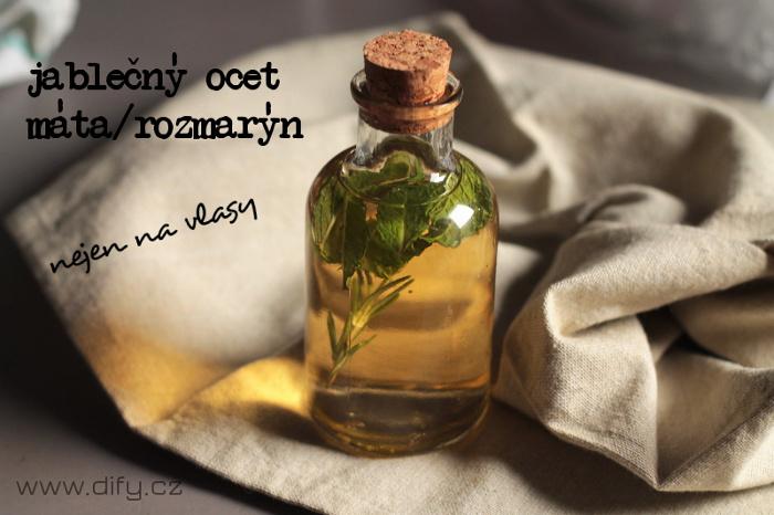 Jablečný ocet s bylinkami na vlasy i do kosmetiky