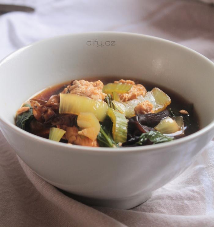 Snadná čínská polévka se sojovou omáčkou