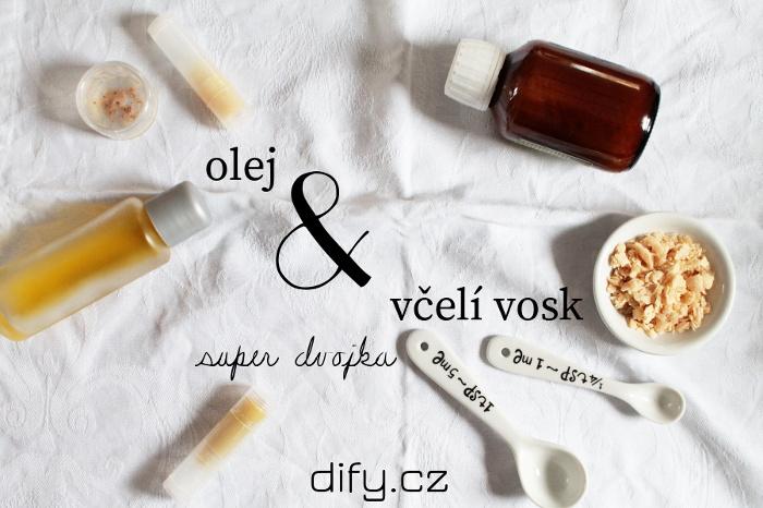 Včelí vosk a rostlinné oleje při výrobě domácí kosmetiky