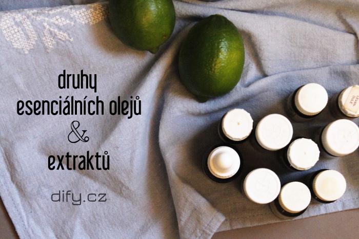 Druhy esenciálních olejůa extraktů pro využití v DIY kosmetice