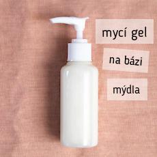 jednoduchý recept na výrobu domácího tekutého mýdla nebo sprchového gelu