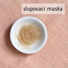 recept na výrobu domácí slupovací masky