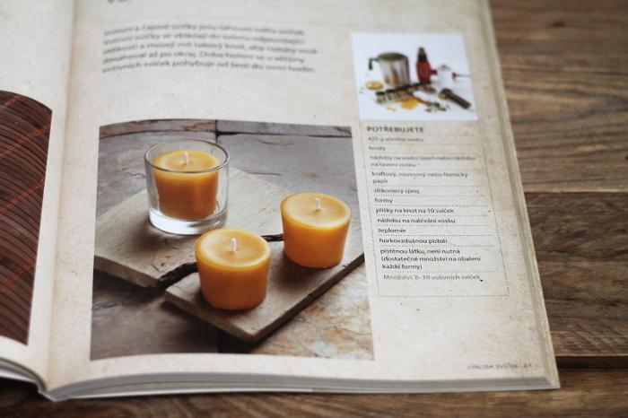 Výroba svíček ze včelího vosku, dle knihy Včelí vosk