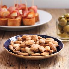 recept na smažené mandle, oblíbený španělský aperitiv