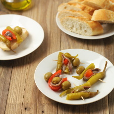 recept na přípravu španělské tapy zvané gilda