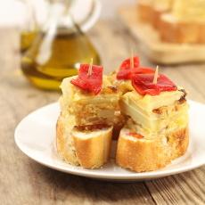 recept na katalánský chlebíček s tortillou